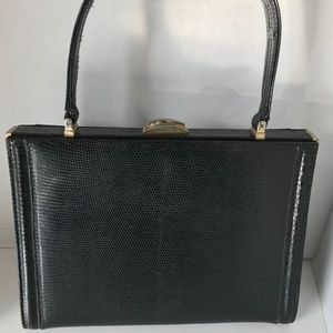 1950s Holt Renfrew Lizard/Alligator Skin Handbag